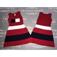 Платье с пайетками-перевертышами, цвет-красный |31107
