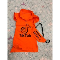 Спортивное платье с сумочкой для девочек|6855