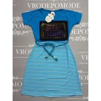 Платье для девочек, цвет-голубой|506138