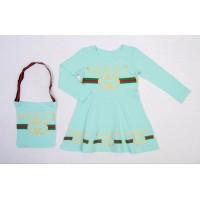 Платье для девочек, цвет-бирюзовый|506949