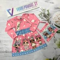 Платье с сумочкой, цвет-розовый|510503