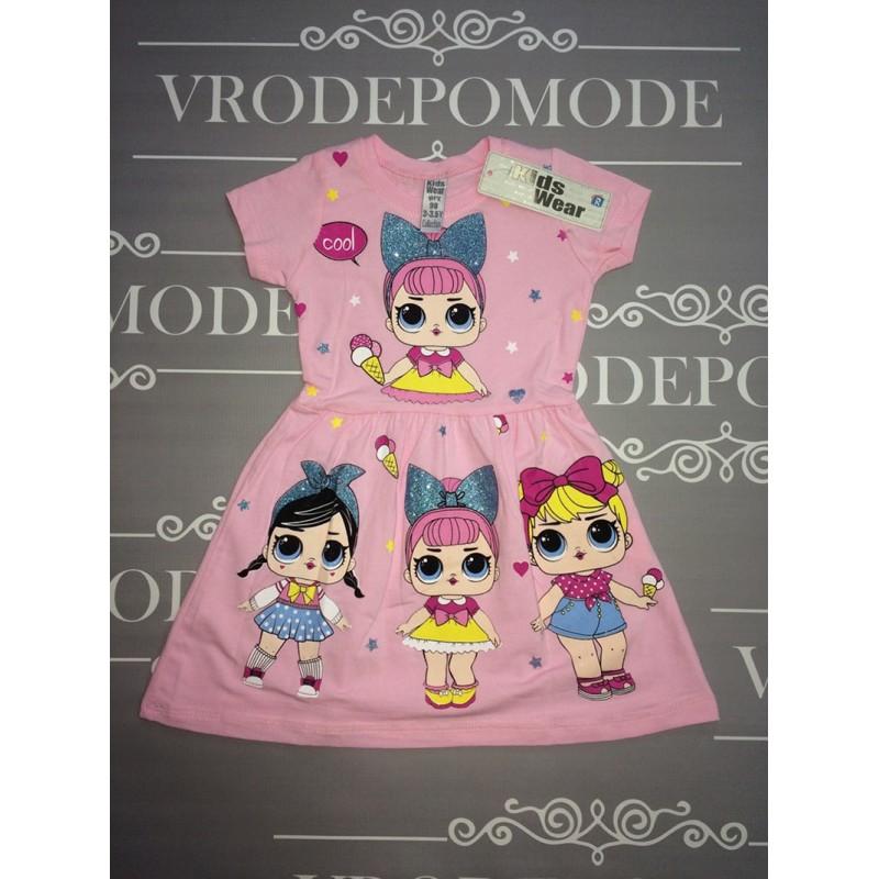Детское платье для девочек, цвет светло-розовый |511032