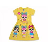 Детское платье для девочек, цвет-желтый |511032