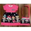 Платье с сумочкой, цвет-розовый|511111