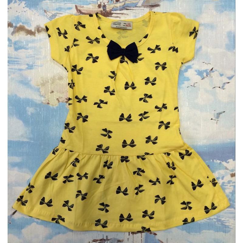 Платье для девочек от 1 до 8 лет, цвет желтый |51133