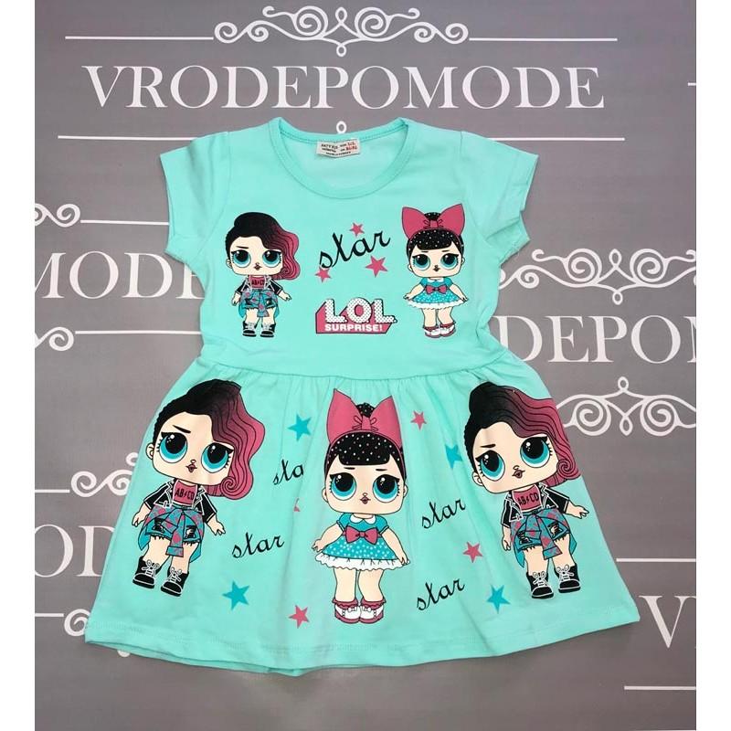 Платье для девочек, цвет-бирюзовый|51306