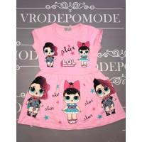 Платье для девочек, цвет светло-розовый|51306