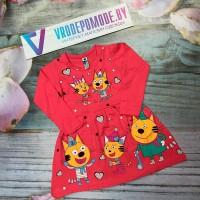 Платье для девочек, цвет-розовый|513511