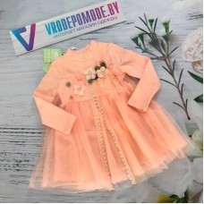Платье для девочек, цвет-персиковый|85032