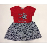 Платье для девочек от 3 до 7 лет, цвет красный |91347