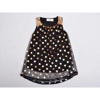 Фатиновое платье для девочек, цвет-черный|9454
