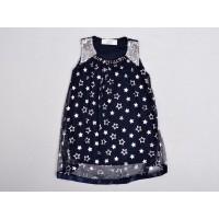 Фатиновое платье для девочек, цвет темно-синий|9475