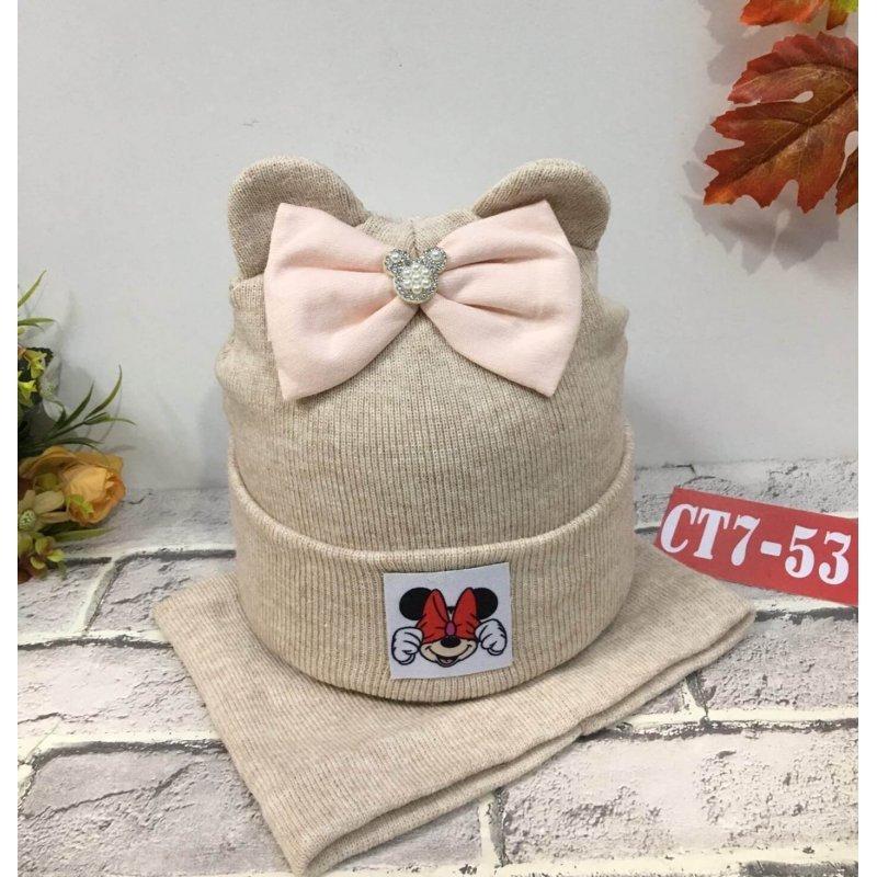 Комплект шапка +снуд. Зима|Х09210