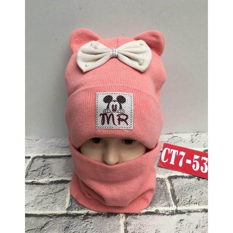 Комплект шапка +снуд. Зима|Х09210-8