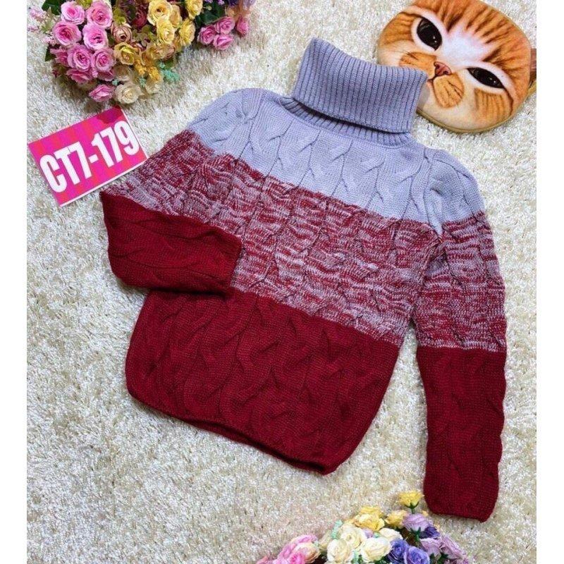 Вязаный свитер для девочки|Х11139-2
