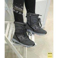 Теплые зимние ботинки на овчине|03657
