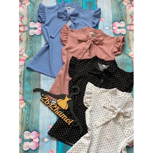 Блузки в горошек|Х02100