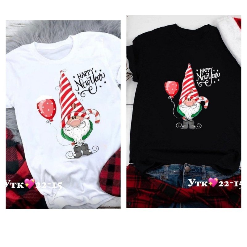 Новогодние футболки X11169-2