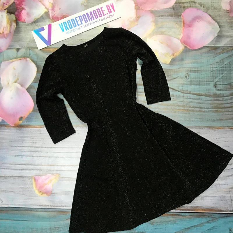 Женское платье с люрексом|VpM-3135